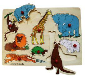 SNOOKUMS - Wooden Puzzle - Monkey - 9 Pieces