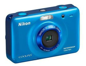 Nikon Coolpix S30 - Compact Digital Camera - Waterproof and Shockproof - Blue