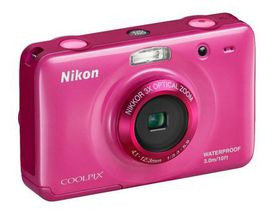 Nikon Coolpix S30 - Compact Digital Camera - Waterproof and Shockproof - Pink