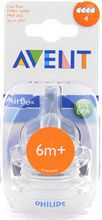 Avent - Teat - Silicone - 6 Month+ 2 Units Airflex Fast