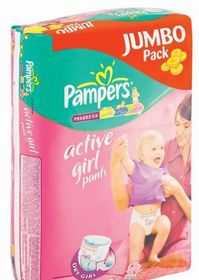 Pampers - Active Girl Pants Junior Jumbo Pack 48