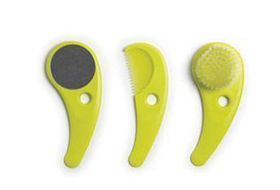 Hoppop Zazo - Comb Brush and Mirror Set - Lime