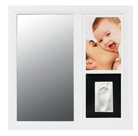 Baby Art - Mirror Print Frame - Black & white