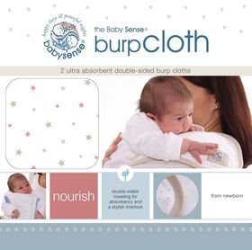 Babysense - Burp Cloth - Pink