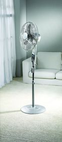 Kenwood - Remote Pedestal Fan - Timer Function - Silver