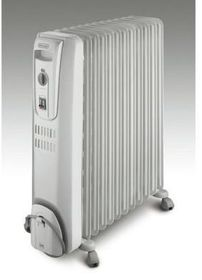 Delonghi - Oil Fin Heater - 12 Fin - Grey - KH771225