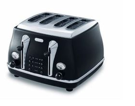 Delonghi - Icona 4 Slice Toaster - Black