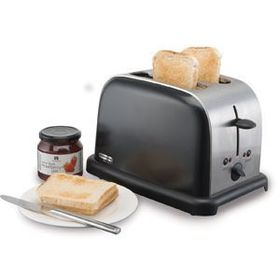Mellerware -  Eclipse Toaster - 2 Slice - Brushed Steel and Black