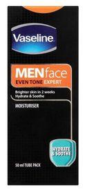 Vaseline - Face Moisturiser, Hydrate & soothe For Men - 50ml (Tube)