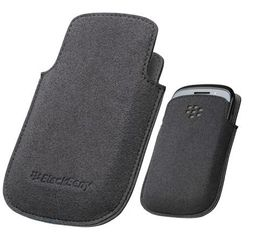 BlackBerry 9320 - Microfiber Pocket - Black and Grey