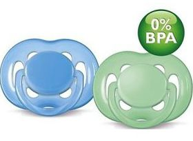 Avent - Freeflow Soother - 6-18m - Twin Pack - Blue/Green