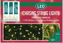 Outdoor Chasing Lights, 120 Cool White Globes (12m)