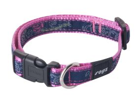 Rogz Fancy Dress Small Jellybean Dog Collar - Navy & Pink