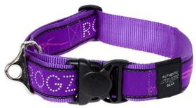 Rogz Fancy Dress Extra Extra Large Special Agent Dog Collar - Purple