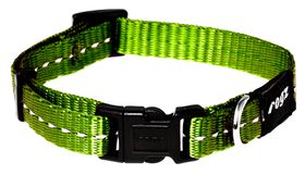 Rogz Utility Medium Snake Dog Collar - Lime