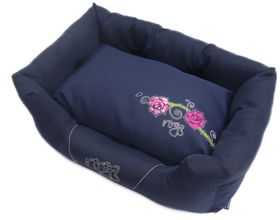 Rogz - Dog Spice Pod Bed - Medium (72cm x 45cm x 25cm) - Navy