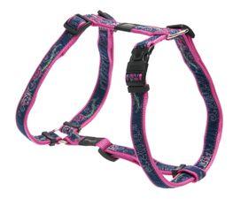 Rogz Fancy Dress Small Jellybean Dog H-Harness - Navy & Pink