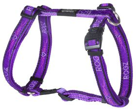 Rogz Fancy Dress Large Beachbum Dog H-Harness - Purple