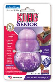 Kong -  Senior Dog Toy Senior - Medium (Dog Weight 5-15kg) - Purple