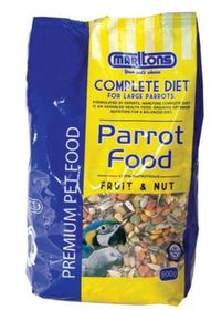 Marltons - Parrot Food With Fruit & Nut - 0.8kg
