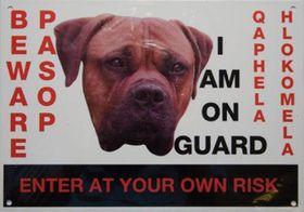 Marltons  Beware Of The Dog Sign - Boerbull