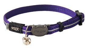 Rogz - Alleycat Reflective Breakaway Collar - Purple
