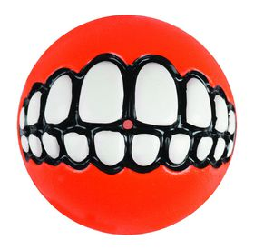 Rogz - Dog Ballz Grinz Treat Dispenser - 6.4cm - Orange