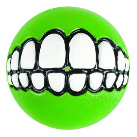 Rogz - Dog Ballz Grinz Treat Dispenser - 6.4cm - Lime