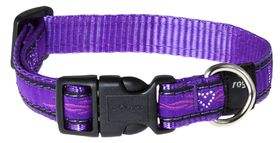 Rogz Fancy Dress Medium Scooter Dog Collar - Purple