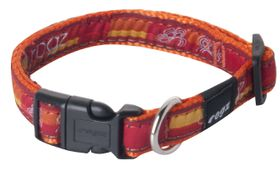 Rogz Fancy Dress Medium Scooter Dog Collar - Tangerine