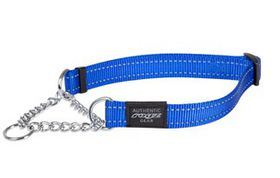 Rogz Utility Medium Snake Dog Check Collar - Turquoise