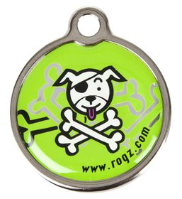Rogz - Small Metal Dog ID Tag - Lime