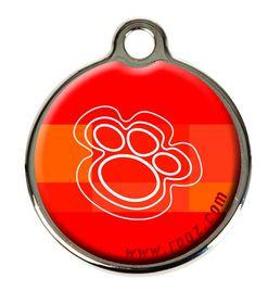 Rogz Small Metal Dog ID Tag - Tangerine