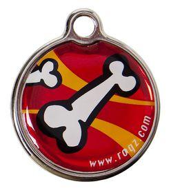 Rogz Large Metal Dog ID Tag 31mm - Red