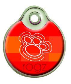 Rogz - Self-Customisable Large Resin ID Tag - Tangerine