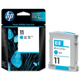 HP No. 11 Cyan Inkjet Print Cartridge