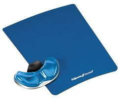 Fellowes Health-V Crystals - Gliding Palm Support - Blue