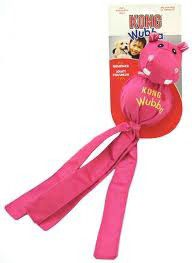 Kong -  Dog Toy Wubba Ballistic Friend Hippo- Large Pink