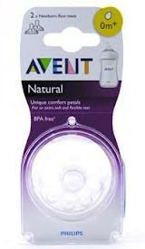 Avent - Natural Feeding Newborn Teat - 2 Pack
