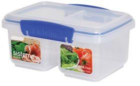 Klip It - 1L Split Rectangular Food Storage Container (174mm x 117mm x 81mm)
