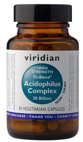 Viridian High Potency Tri - Blend Acidophilus Complex (20 Billion) Vegetarian Capsules
