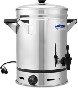 CaterPride - 18/8 Stainless Steel Electric Urn With Lid - 12 Litre