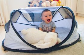 Deryan - Baby Luxe - Travel Cot - Silver
