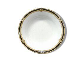 Noritake Braidwood Large Soup Bowl 22cm - White & Gold with Black Detail (23mm x 23mm x 3mm)