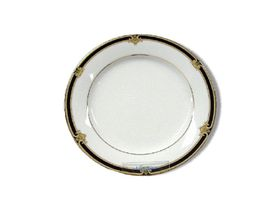 Noritake Braidwood Bread Plate 16cm - White & Gold with Black Detail (16mm x 16mm x 1mm)