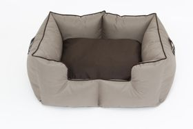 Wagworld Bolster Bed K9 Castle - Camel and Chocolate