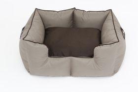 Wagworld - Bolster Bed K9 Castle - Large (70cm x 90cm x 38cm) - Camel & Choc