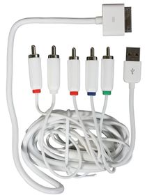 Ellies Component AV Cable with USB for iPod/iPhone
