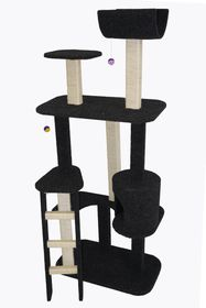 Scratzme - The Ritz Scratching Post - Grey & Charcoal