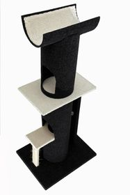 Scratzme - Purrsian Palace Scratching Post - Grey & Charcoal